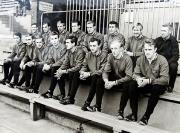 1967/68 Mannschaftsfoto auf der Tribüne
