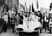 1971 Aufstiegsfeier am Rathaus