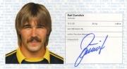 1982/83 Scheckheft Ralf Zumdick