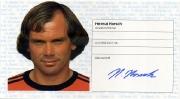 1982/83 Scheckheft Helmut Horsch