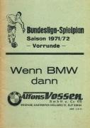 1971/72 Bundesligaspielplan