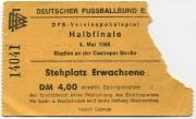 1967-68 Ticket Bayern München Pokal