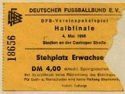 1968 Ticket Pokal-Halbfinale VfL - FCB