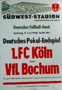 1968 Spielplakat Pokal-Endspiel VfL - Köln