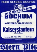 1975/76 Spielplakat VfL - FCK in Herne