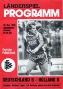 1978 B-Länderspiel D - NL